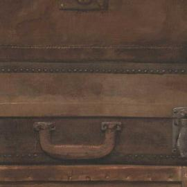 Бумажные обои luggage leather Andrew Martin